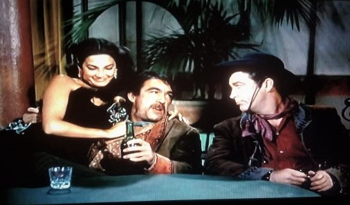 Anthony Quinn, Robert Taylor, and Charlita in Ride, Vaquero! (1953)