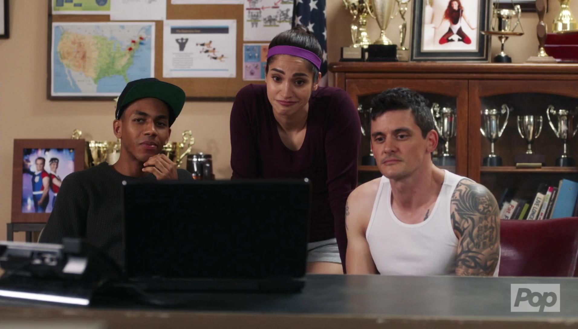 James Cade, Misha Rasaiah, and Jahmil French in Let's Get Physical (2018)