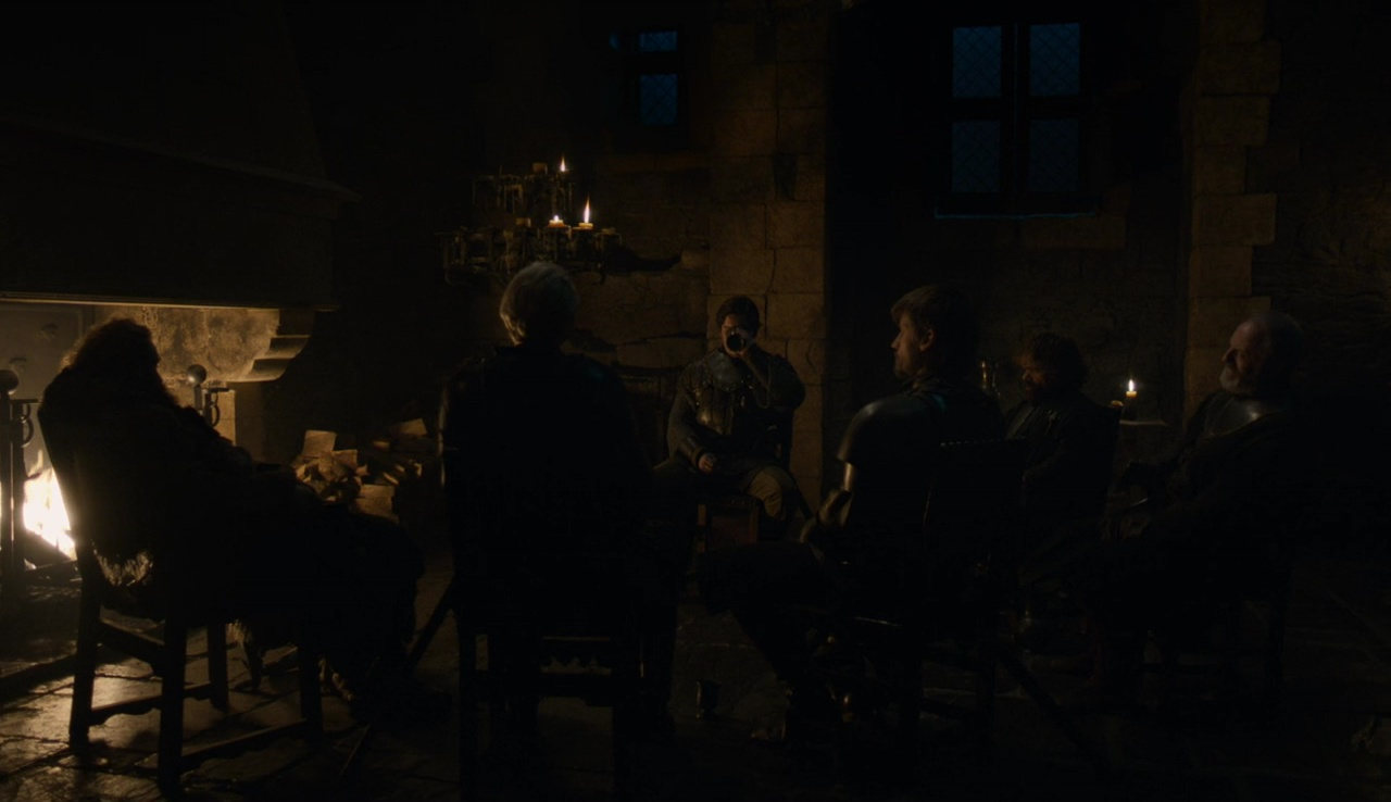 Nikolaj Coster-Waldau, Liam Cunningham, Peter Dinklage, Kristofer Hivju, Gwendoline Christie, and Daniel Portman in Game of Thrones (2011)