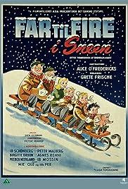 Far til fire i sneen Poster