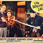 Claudette Colbert, Stuart Erwin, and Edmund Lowe in The Misleading Lady (1932)