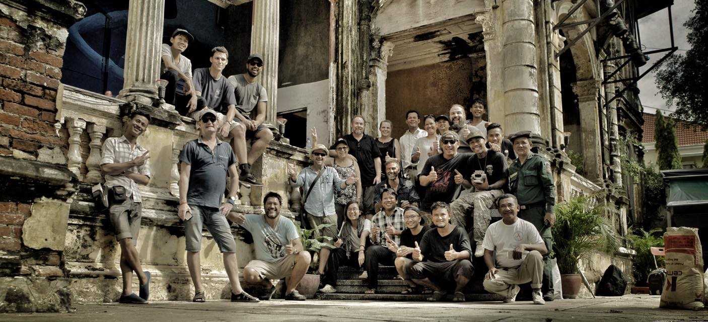 Production Wrap Photo with Cast and Crew of Robot 4 (shot in Cambodia)