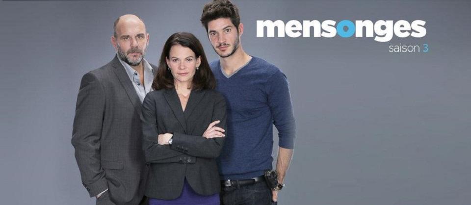 Fanny Mallette, Sylvain Marcel, and Éric Bruneau in Mensonges (2014)