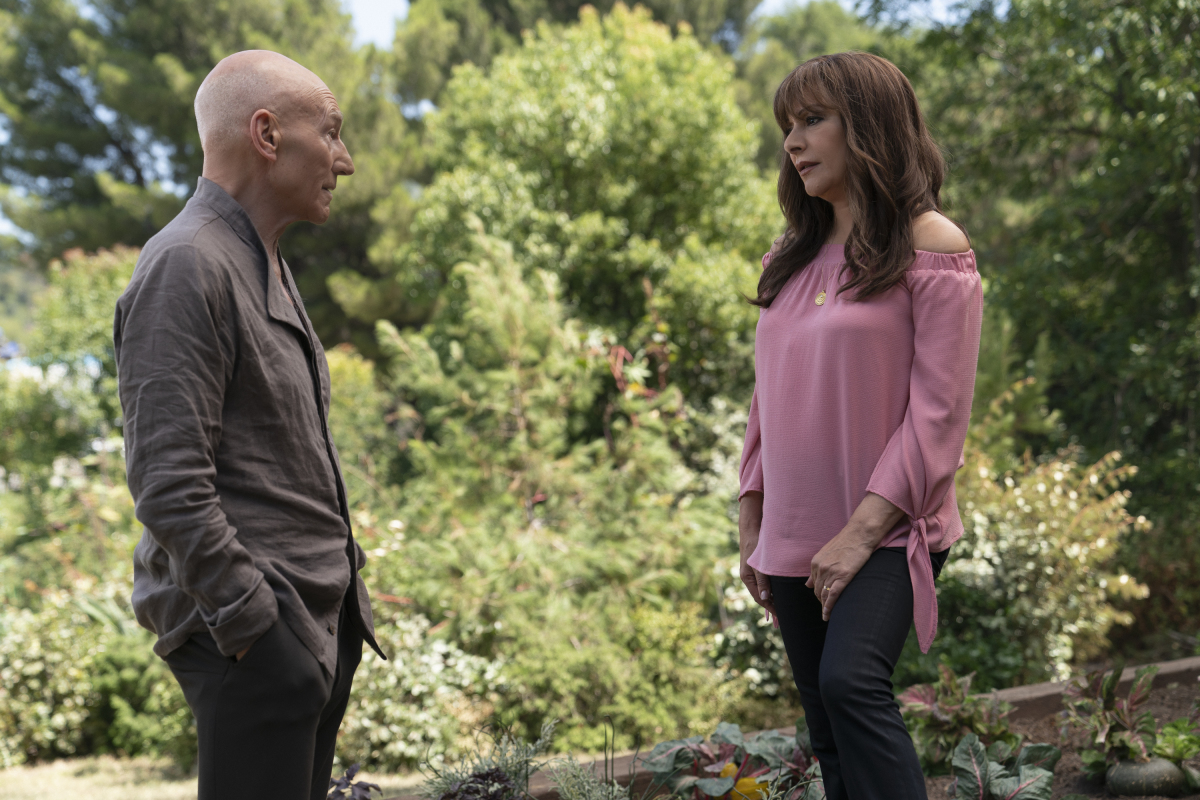 Marina Sirtis and Patrick Stewart in Star Trek: Picard (2020)