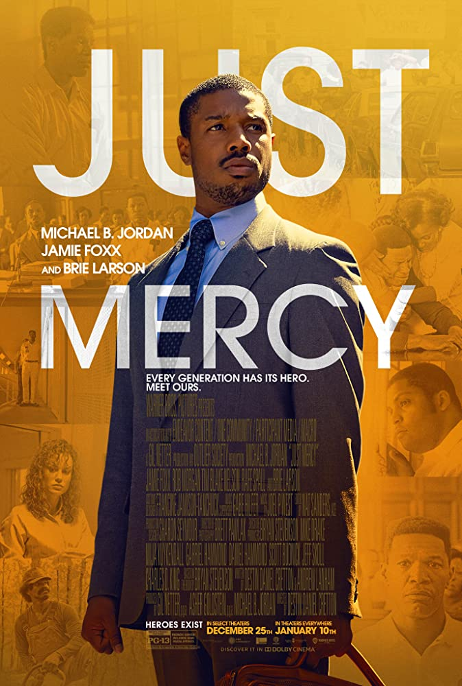 Jamie Foxx, Michael B. Jordan, Brie Larson, Karan Kendrick, and O'Shea Jackson Jr. in Just Mercy (2019)