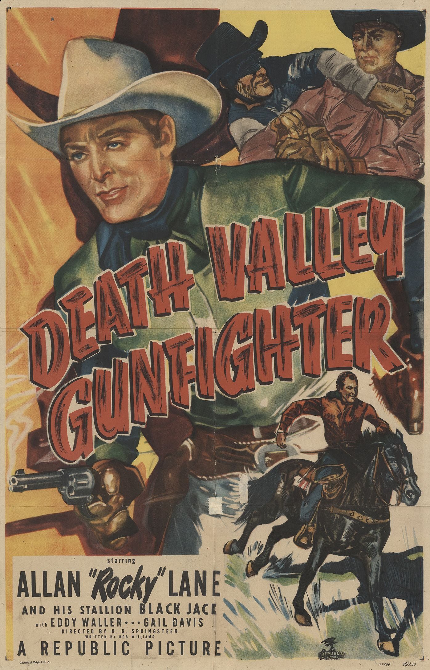 George Chesebro, Allan Lane, and Black Jack in Death Valley Gunfighter (1949)