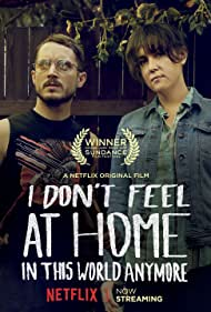 Elijah Wood, Melanie Lynskey, and Michelle Moreno in I Don't Feel at Home in This World Anymore (2017)
