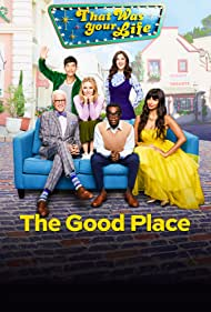 Ted Danson, Kristen Bell, Marc Evan Jackson, William Jackson Harper, Manny Jacinto, Jameela Jamil, and D'Arcy Carden in The Good Place (2016)
