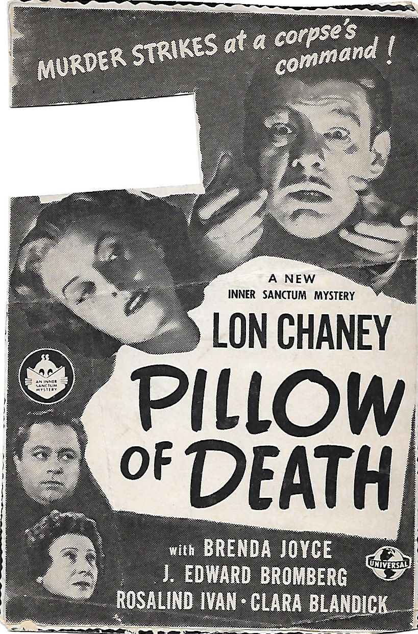 Lon Chaney Jr., Clara Blandick, J. Edward Bromberg, and Brenda Joyce in Pillow of Death (1945)