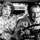 Louis de Funès and Paulette Dubost in Taxi roulotte et corrida (1958)