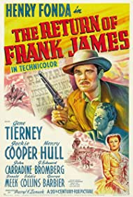 Henry Fonda, Gene Tierney, and Jackie Cooper in The Return of Frank James (1940)