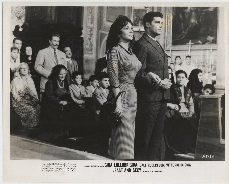 Gina Lollobrigida and Dale Robertson in Anna di Brooklyn (1958)