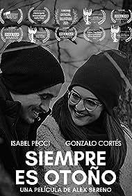 Gonzalo Cortés and Isabel Pecci in Siempre es Otoño (2020)