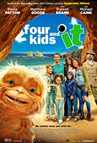 Michael Caine, Paul Bazely, Matthew Goode, Russell Brand, Paula Patton, Ashley Aufderheide, Teddie-Rose Malleson-Allen, Billy Jenkins, and Ellie-Mae Siame in Four Kids and It (2020)