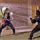 Steve James and Joe Fiorello in American Ninja 3: Blood Hunt (1989)
