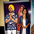 Diljit Dosanjh and Sonam Bajwa at an event for Super Singh (2017)