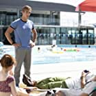 Daniel Needs on set as Liam Henderson in Swimming For Gold