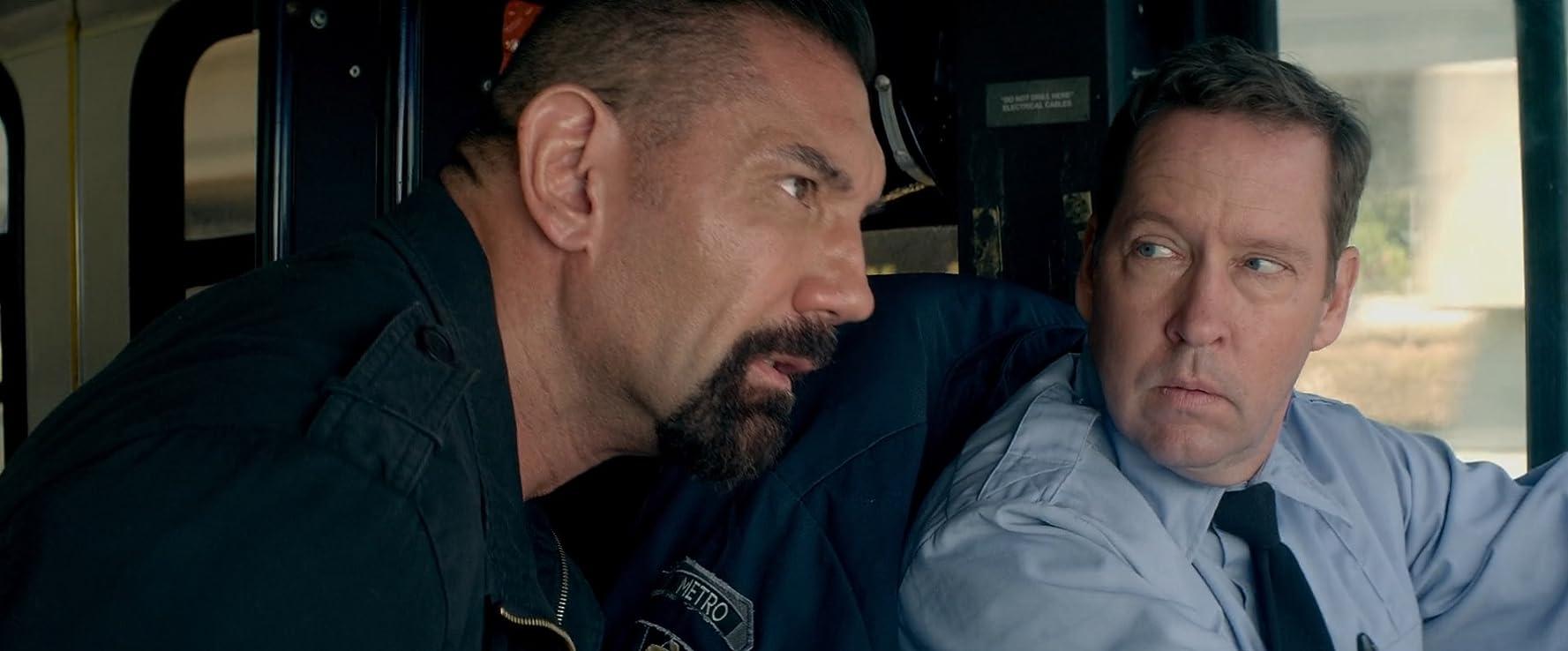 D.B. Sweeney and Dave Bautista in Heist (2015)