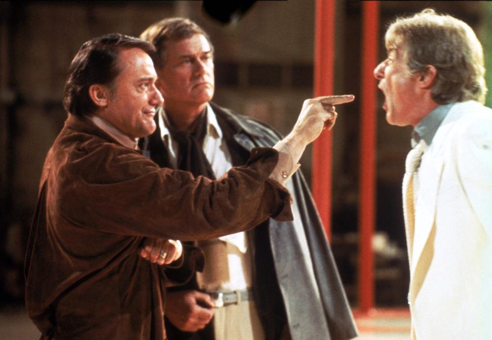 Larry Hagman, Robert Vaughn, and Richard Mulligan in S.O.B. (1981)