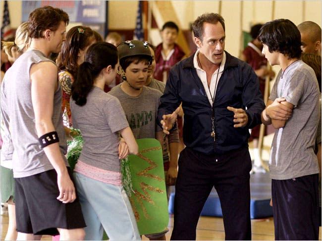 Christopher Meloni, Nathan Kress, Jordan Becker, Brenna O'Brien, and Avan Jogia in Gym Teacher: The Movie (2008)