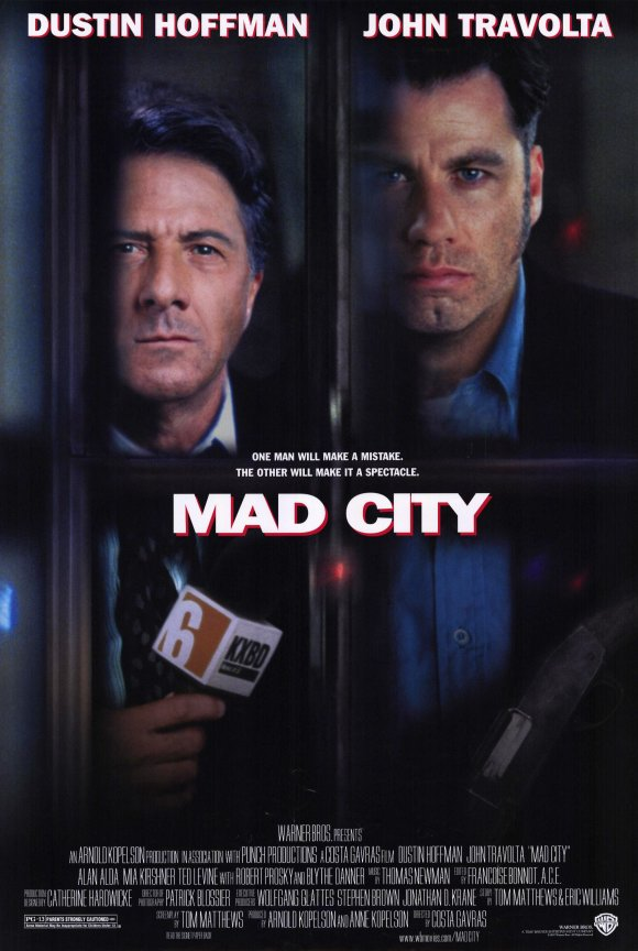 Dustin Hoffman and John Travolta in Mad City (1997)