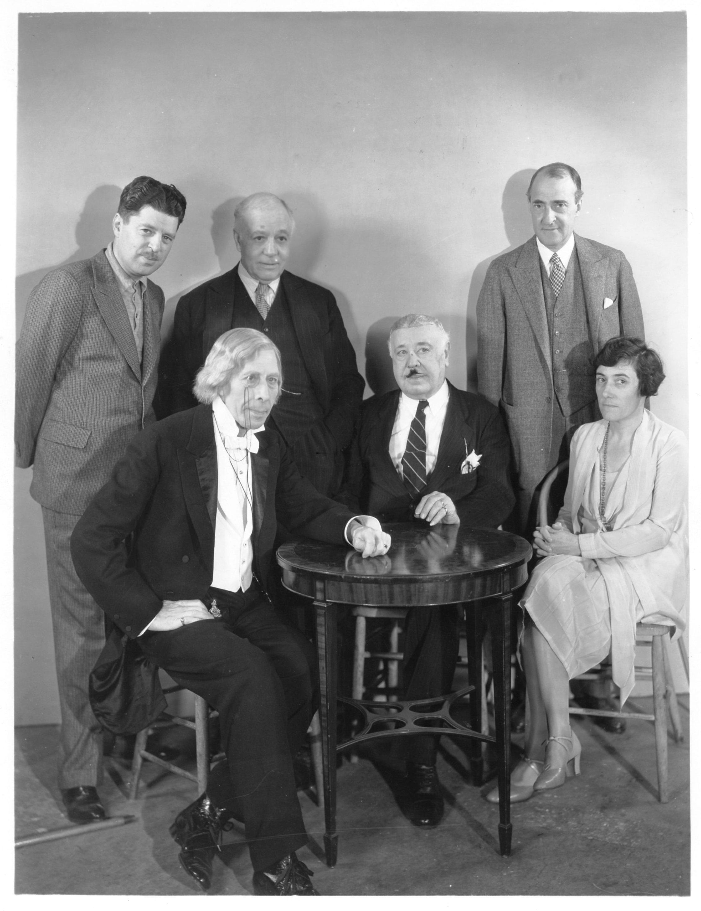 George Arliss, Winthrop Ames, Alfred E. Green, Maude T. Howell, Wilton Lackaye, and Otis Skinner in Old English (1930)