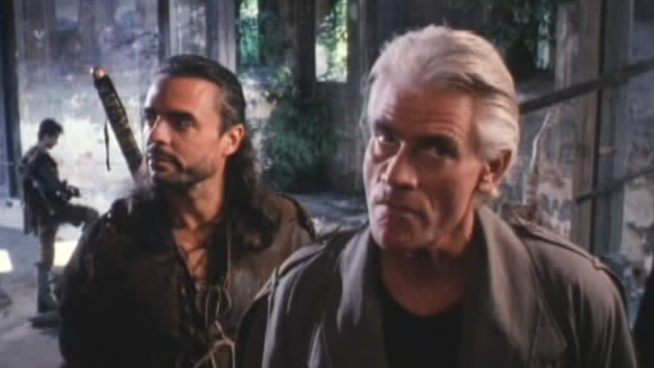 Jeff Moldovan and Tim Thomerson in Trancers 4: Jack of Swords (1994)