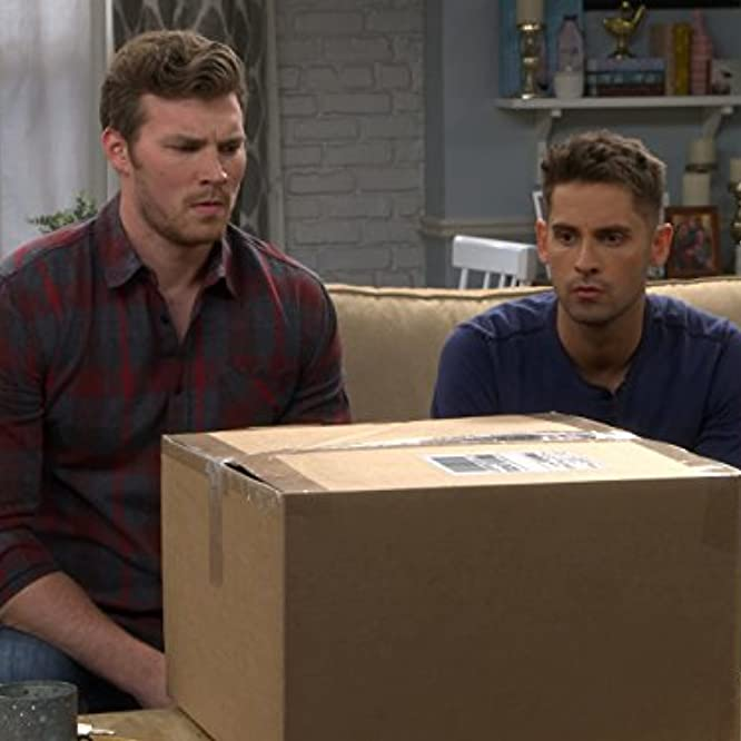 Jean-Luc Bilodeau and Derek Theler in Baby Daddy (2012)