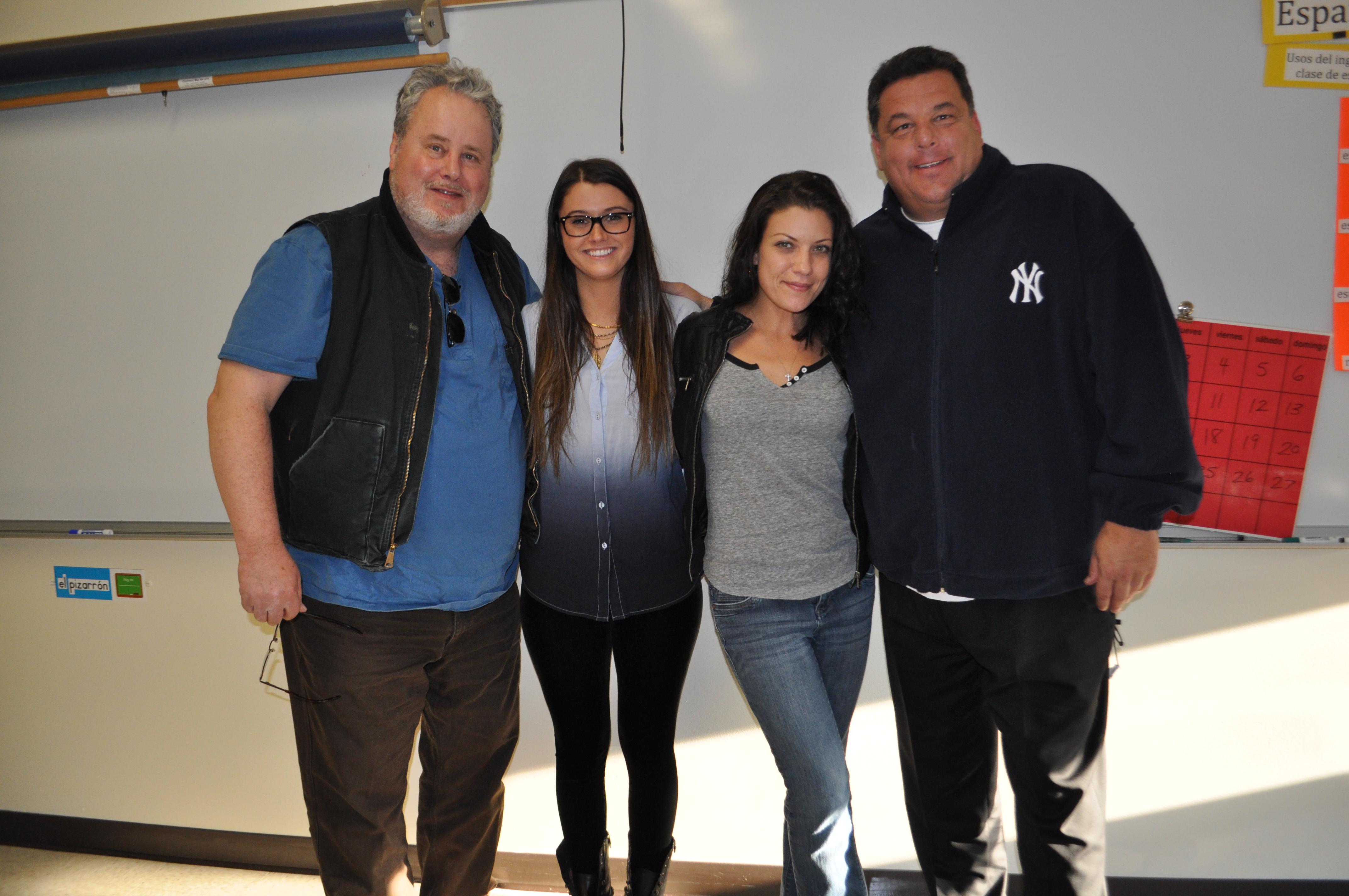 "Courtney Baxter, Adam LeFevre, Tiffany Shepis, Steve Schirripa on the set of ""Running on Empty"" October 2013"