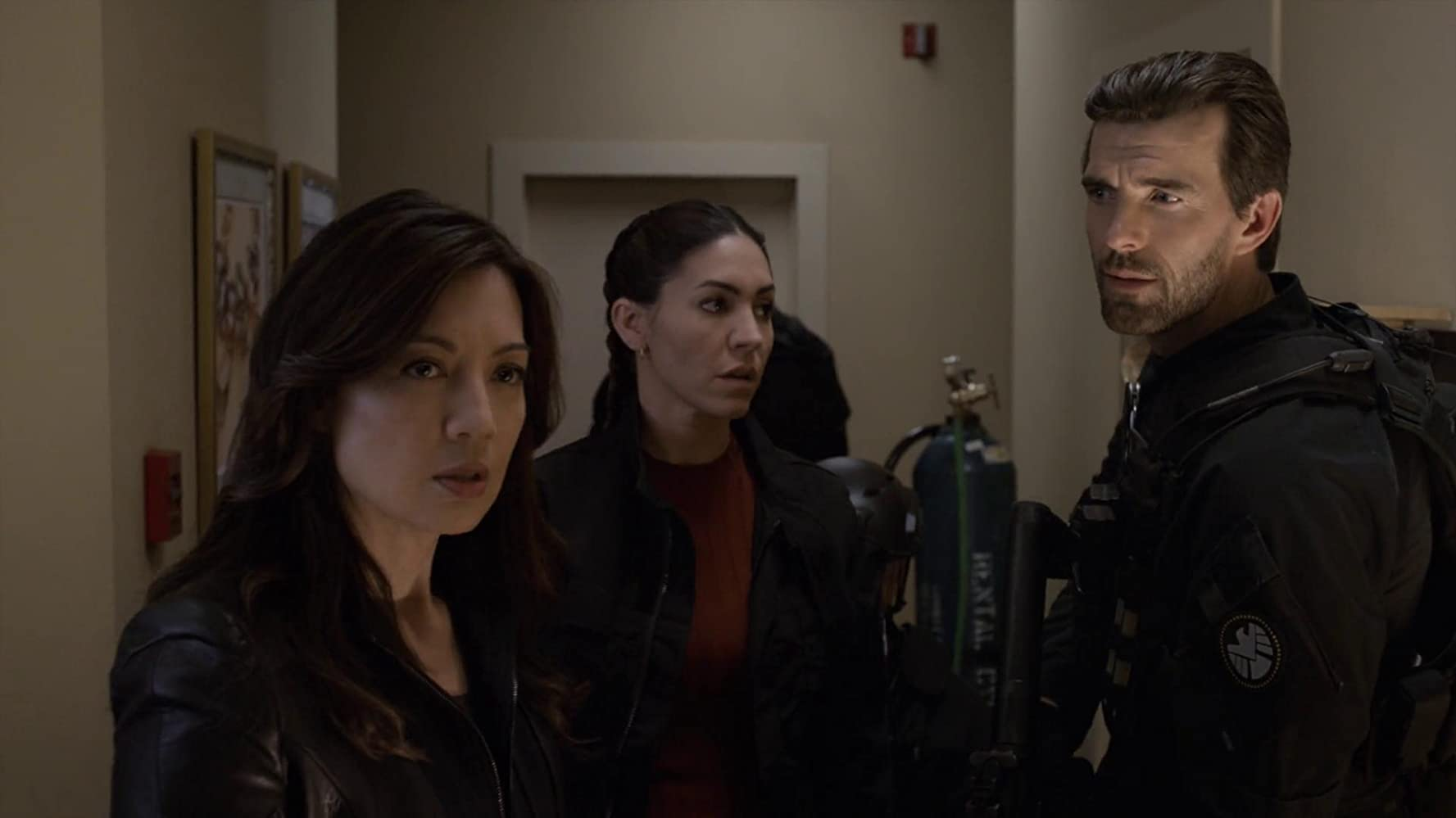 Ming-Na Wen, Lucas Bryant, and Natalia Cordova-Buckley in Agents of S.H.I.E.L.D. (2013)
