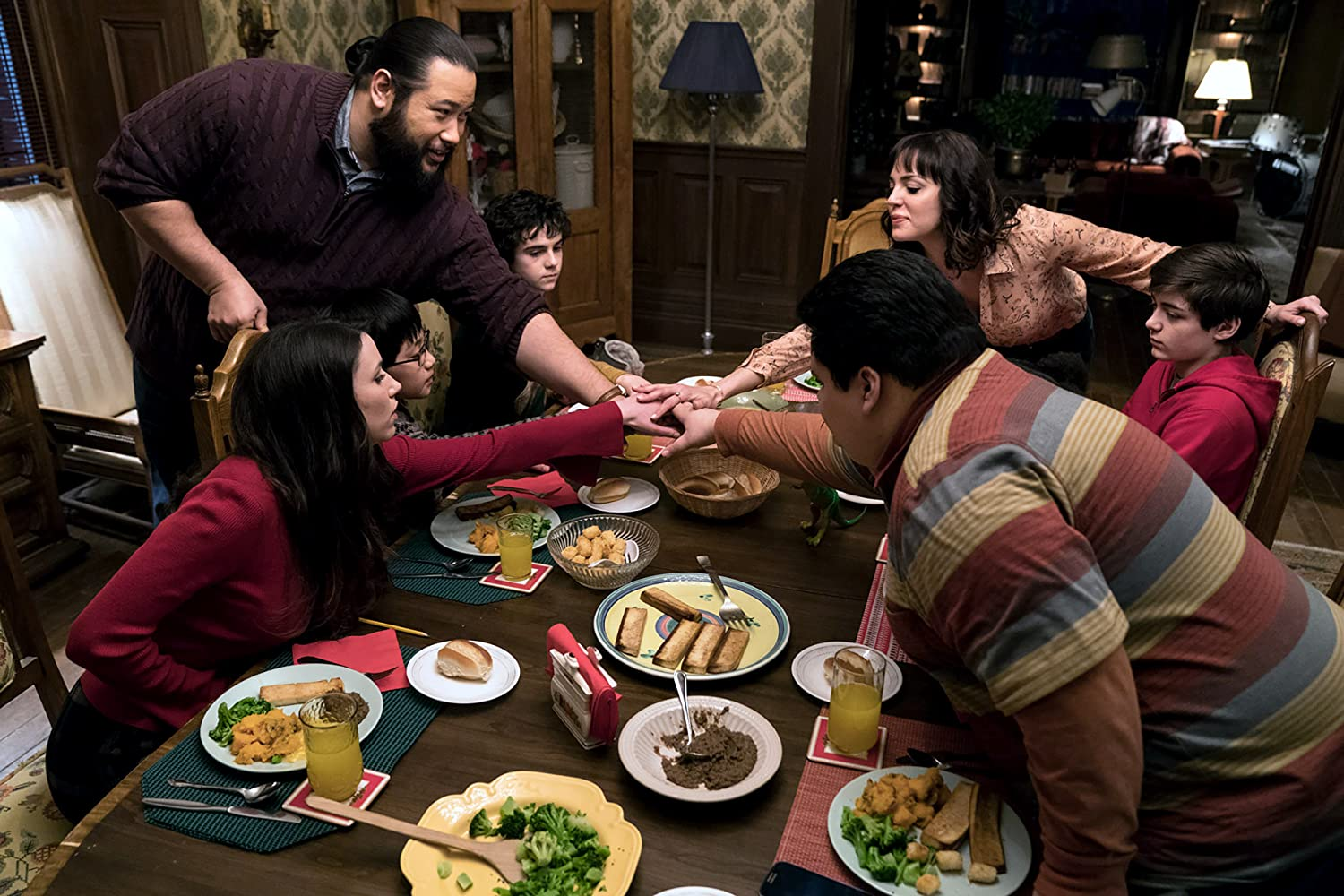 Grace Fulton, Cooper Andrews, Marta Milans, Jovan Armand, Asher Angel, Jack Dylan Grazer, and Ian Chen in Shazam! (2019)