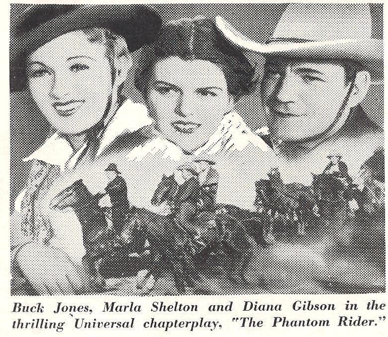 Diana Gibson, Buck Jones, and Marla Shelton in The Phantom Rider (1936)