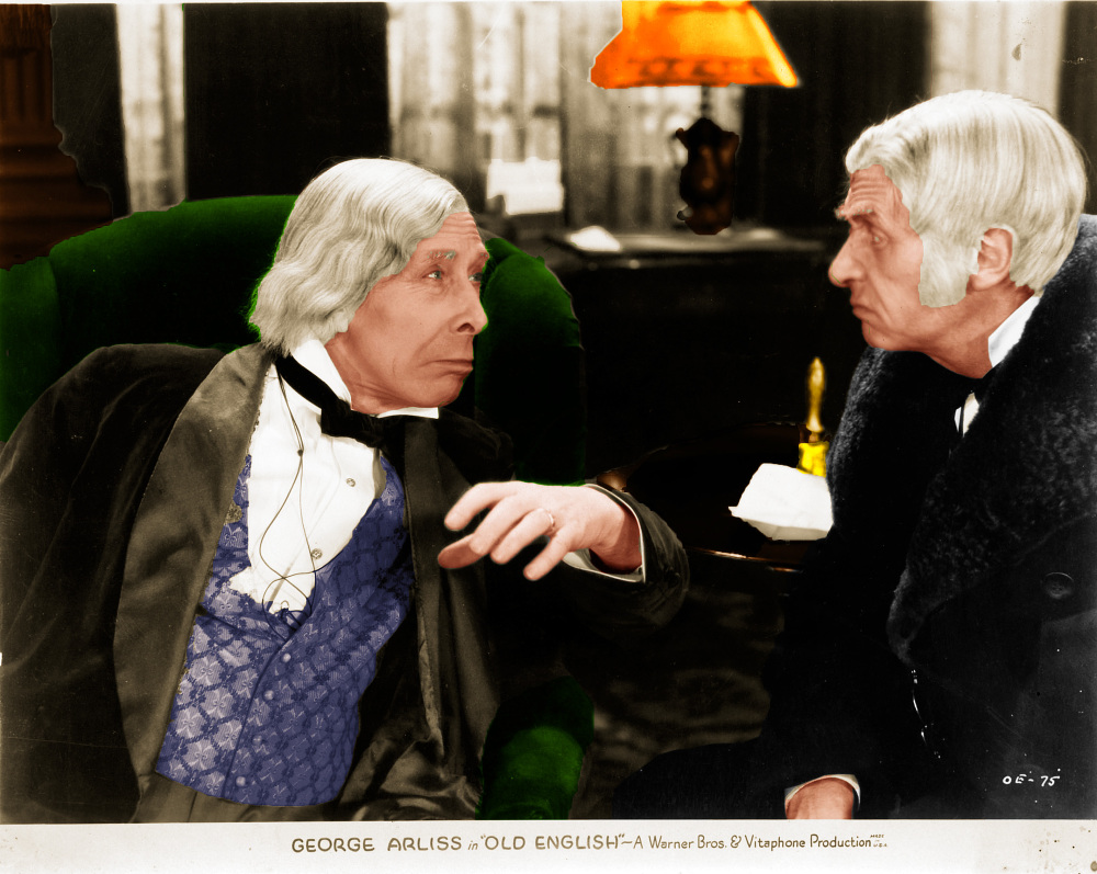 George Arliss and Ivan F. Simpson in Old English (1930)