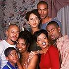 Vanessa Williams, Rockmond Dunbar, Darrin Dewitt Henson, Boris Kodjoe, Aaron Meeks, Nicole Ari Parker, and Malinda Williams in Soul Food (2000)