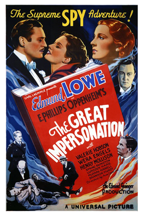 Wera Engels, Valerie Hobson, and Edmund Lowe in The Great Impersonation (1935)