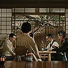 Ryûji Kita, Nobuo Nakamura, and Chishû Ryû in Sanma no aji (1962)