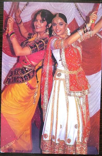 Madhuri Dixit and Sonu Walia in Pratikar (1991)