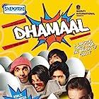 Sanjay Dutt, Javed Jaffrey, Arshad Warsi, Aashish Chaudhary, and Riteish Deshmukh in Dhamaal (2007)