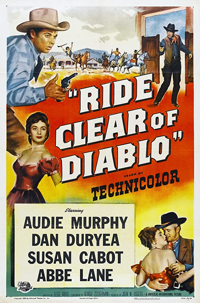 Audie Murphy, Dan Duryea, and Susan Cabot in Ride Clear of Diablo (1954)