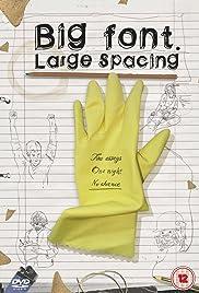 Big Font. Large Spacing Poster
