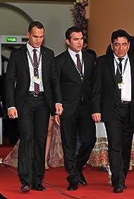 Murad Hamidi, Sabruddin Rahmani, and Seddiq Abedi in A Man's Desire for Fifth Wife (2012)