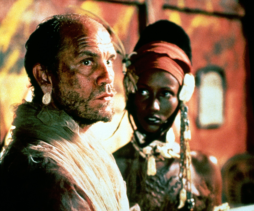 John Malkovich and Iman in Heart of Darkness (1993)