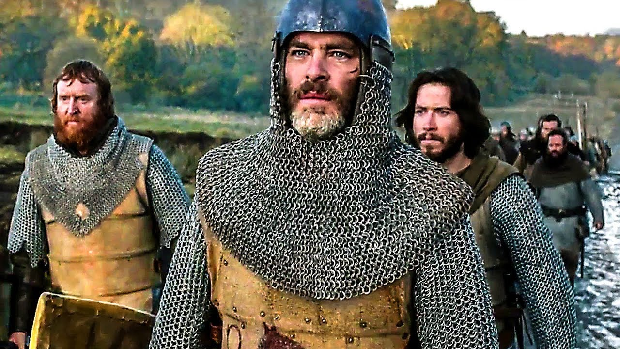 Tony Curran, Chris Pine, and Lorne MacFadyen in Outlaw King (2018)