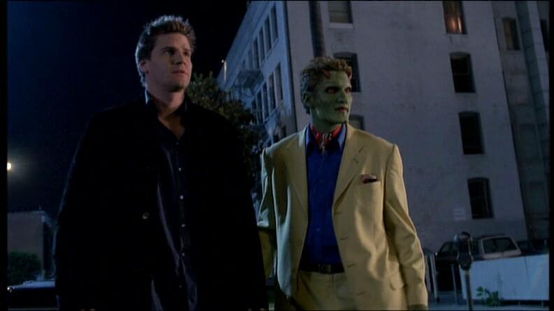 David Boreanaz and Andy Hallett in Angel (1999)