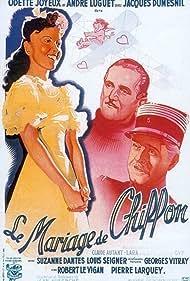 Jacques Dumesnil, Odette Joyeux, and André Luguet in Le mariage de Chiffon (1942)