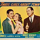 Robert Benchley, Janet Blair, and John Howard in Three Girls About Town (1941)