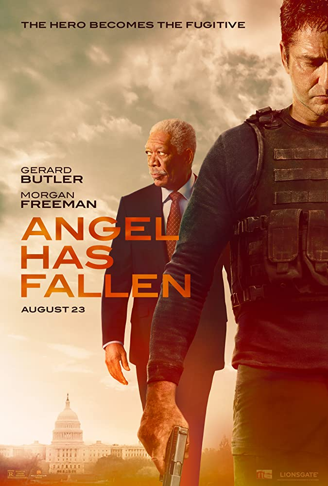 Morgan Freeman and Gerard Butler in Angel Has Fallen (2019)