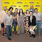 Pete Zias, Colby Holt, Sam Probst, Michael Henry, Anna Schlegel, Tony Jacksha, and Joe Probst at an event for Pig Hag (2019)