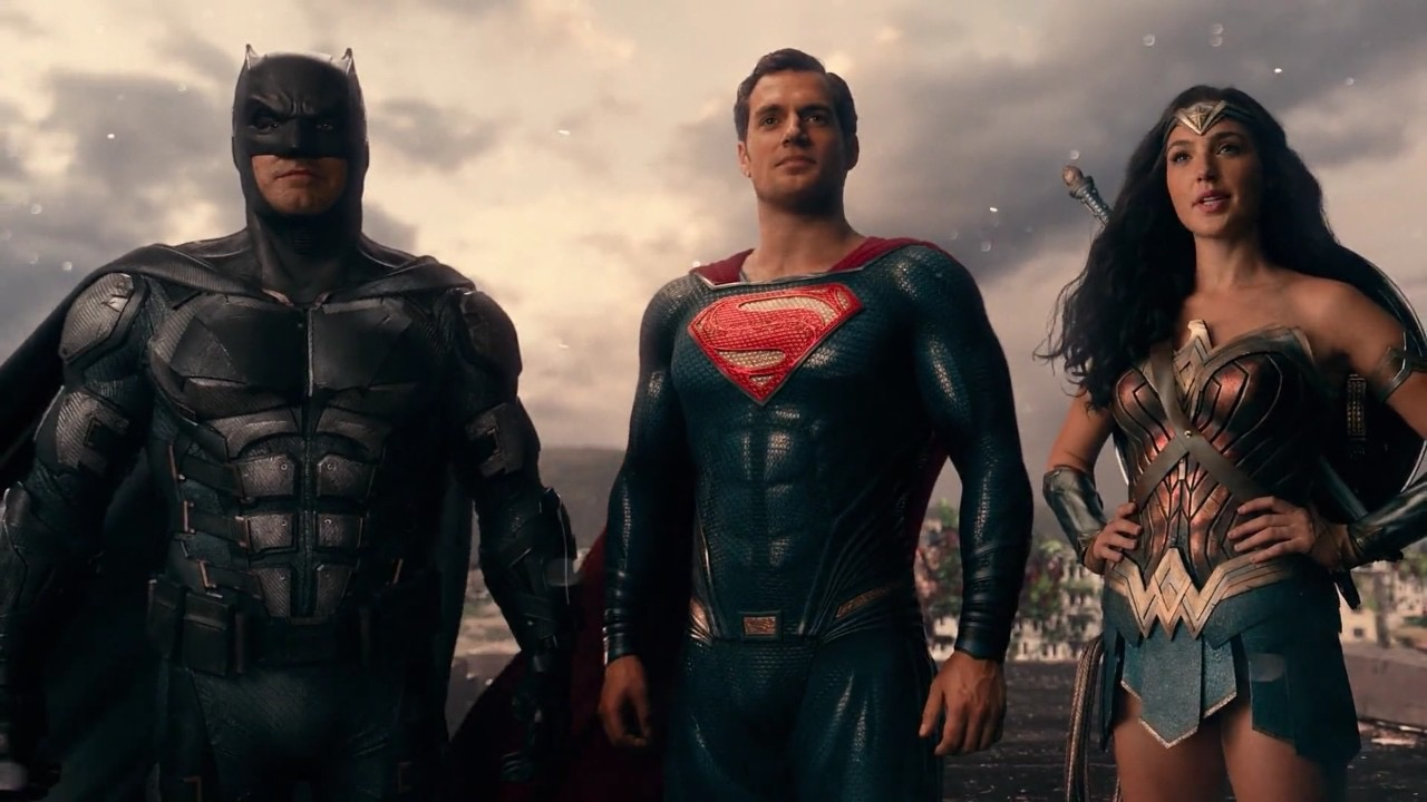 Ben Affleck, Henry Cavill, and Gal Gadot in Justice League (2017)
