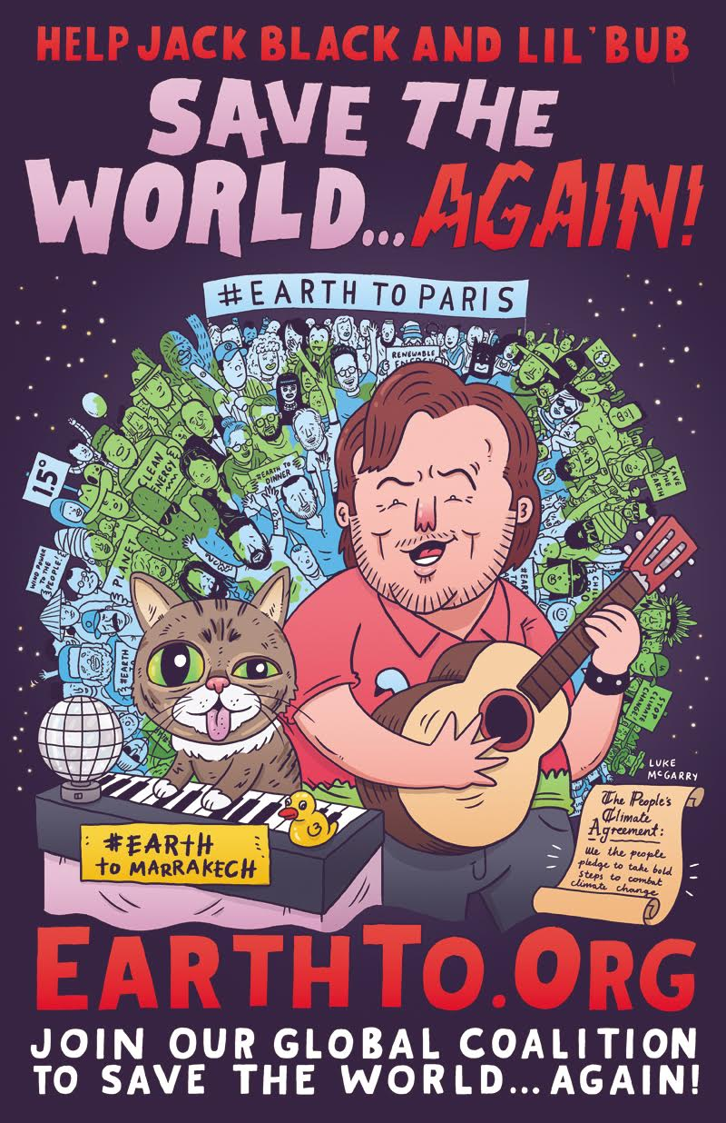 Jack Black and Lil BUB Save the World Again 2016